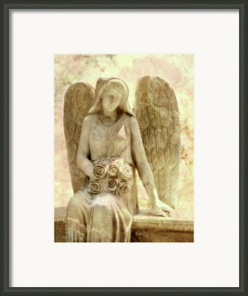 Cemetery Angel Statue Framed Print By Randy Steele