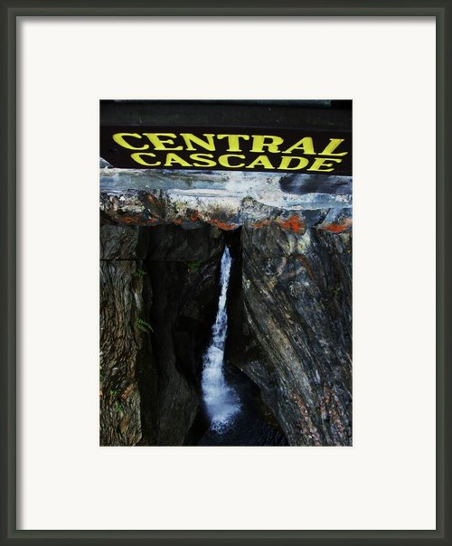 Central Cascade Bridge View Framed Print By Inthesane Dotcom