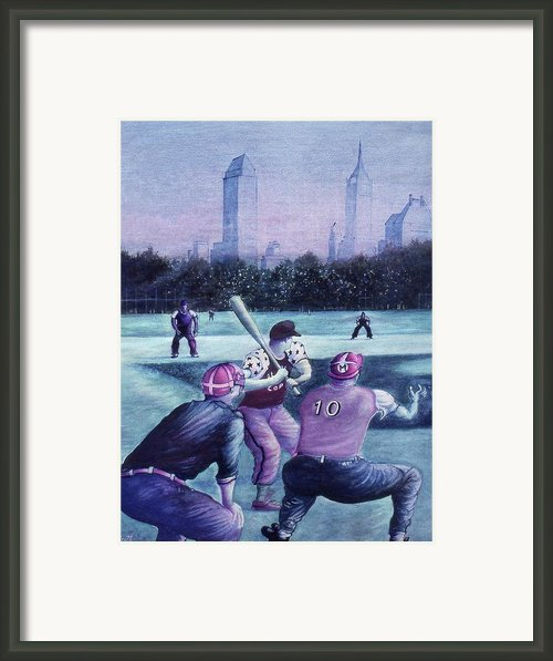 Central Park Baseball - New York City Framed Print By Peter Art Prints Posters Gallery