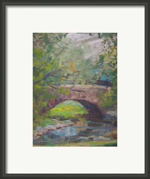 Central Park Bridge Framed Print By Bart Deceglie
