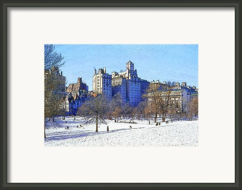 Central Park Framed Print By Chuck Staley