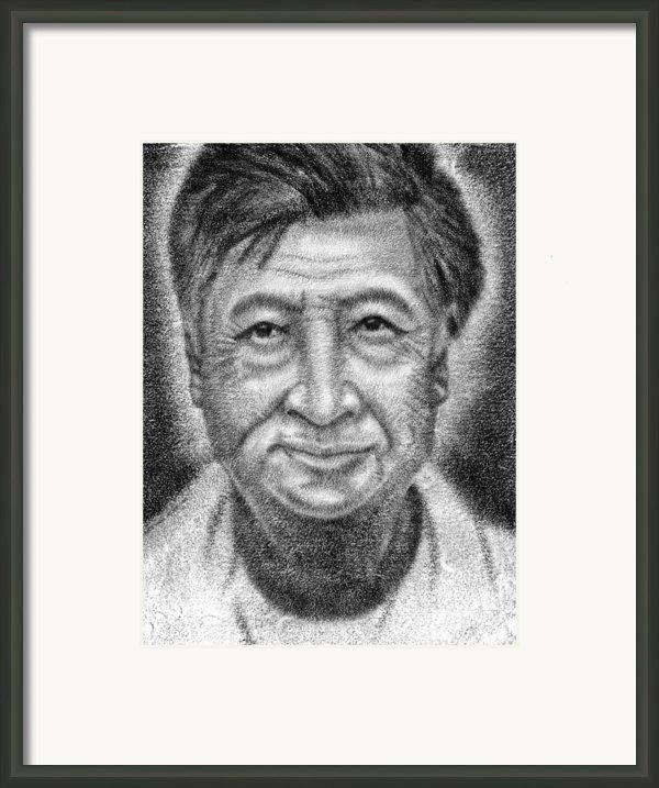 Cesar El Santo Framed Print By Roberto Valdes Sanchez