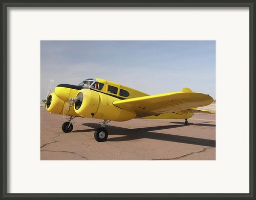 Cessna T-50 Bobcat N59188 Casa Grande Airport Arizona March 5 2011 Framed Print By Brian Lockett