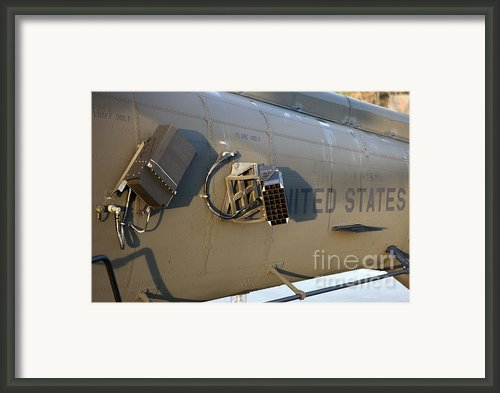 Chaff And Flare Dispensers On A U.s Framed Print By Timm Ziegenthaler