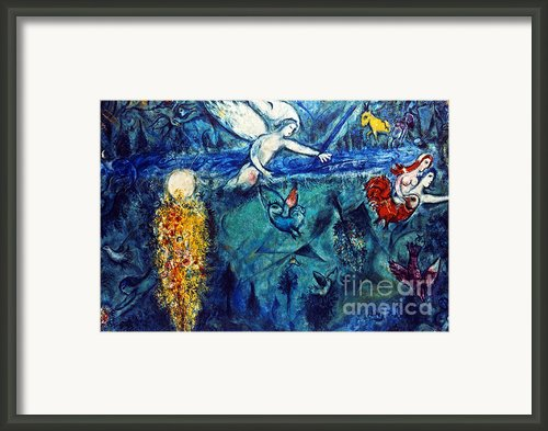Chagall: Adam And Eve Framed Print By Granger