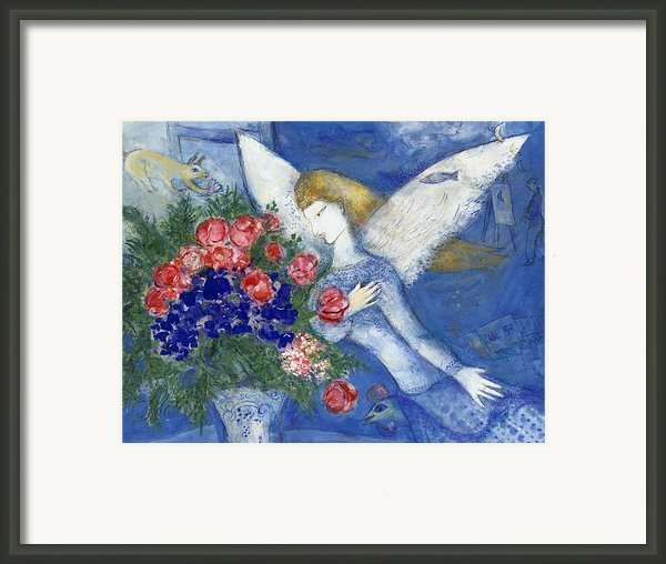 Chagall Blue Angel Framed Print By Granger