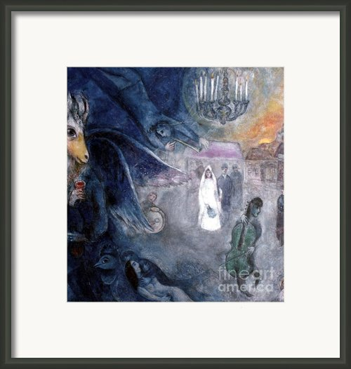 Chagall: Wedding, 1945 Framed Print By Granger