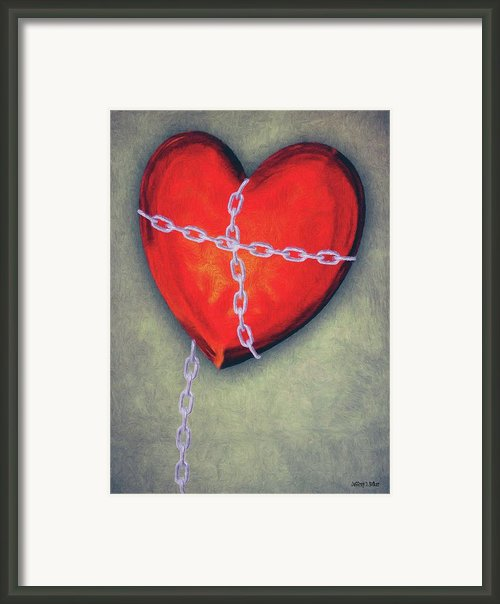 Chained Heart Framed Print By Jeff Kolker