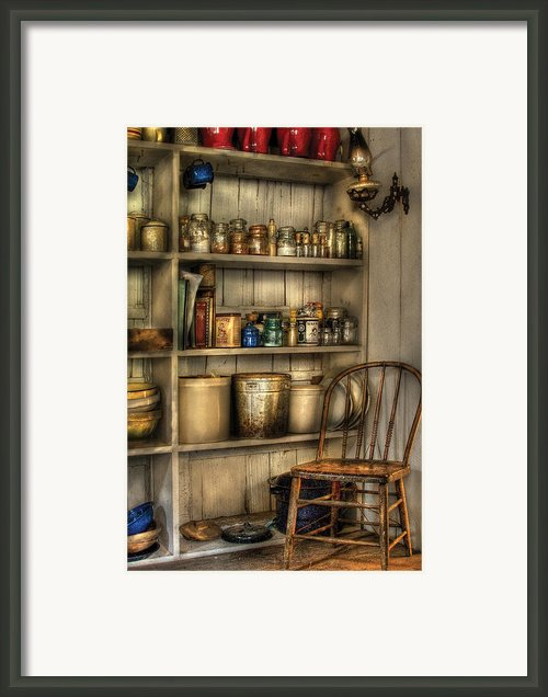Chair - Chair In The Corner Framed Print By Mike Savad