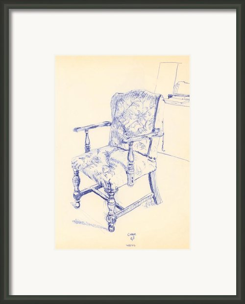 Chair Framed Print By Ron Bissett