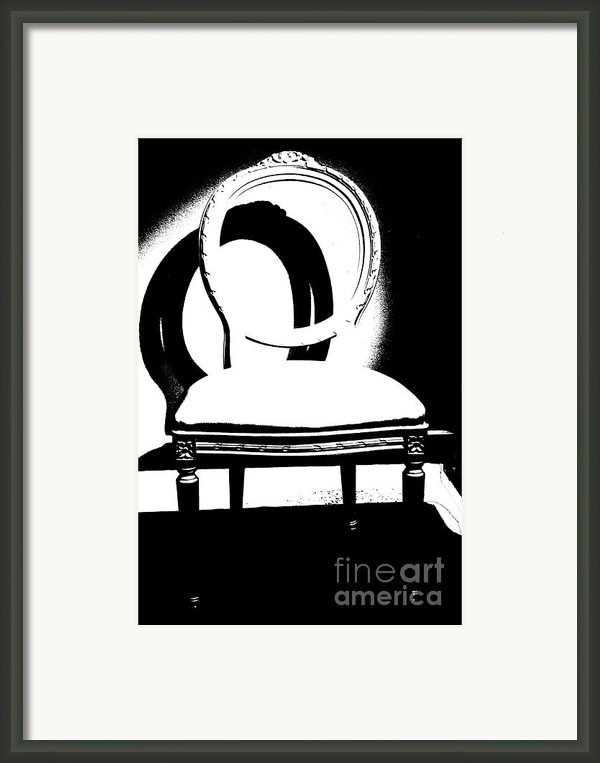 Chair Silhouette Framed Print By Artyzen Studios