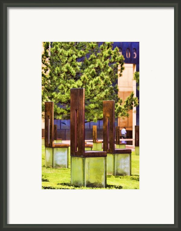Chairs At The Gate Framed Print By Ricky Barnard