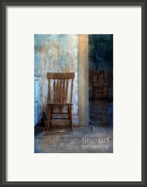 Chairs In Rundown House Framed Print By Jill Battaglia