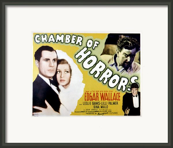 Chamber Of Horrors Aka Door With Seven Framed Print By Everett