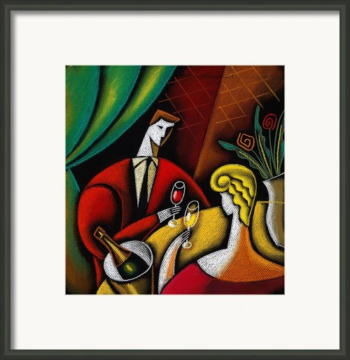 Champagne And Love Framed Print By Leon Zernitsky