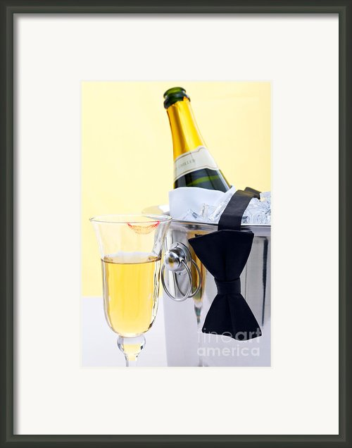 Champagne Black Tie And Lipstick Framed Print By Richard Thomas