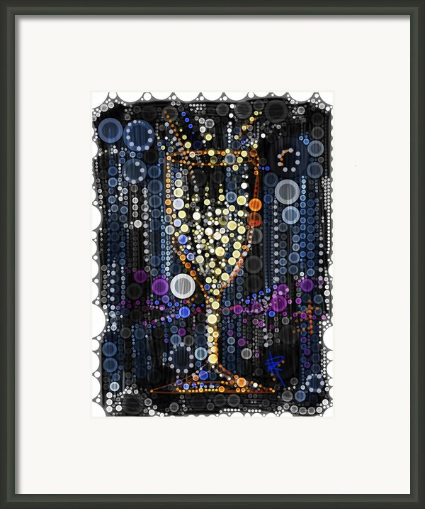 Champagne Flute Framed Print By Russell Pierce
