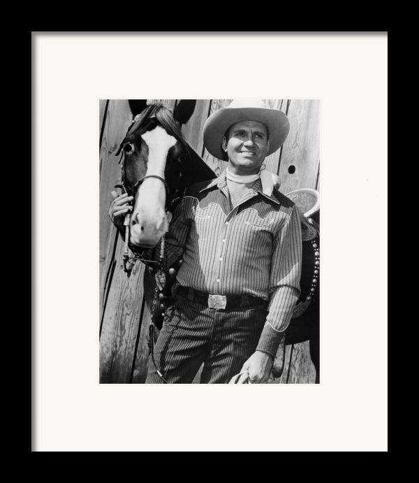 Champion And Gene Autry Framed Print By Everett