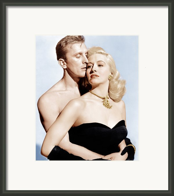 Champion, From Left Kirk Douglas Framed Print By Everett