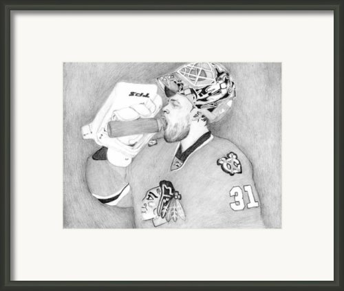 Championship Goalie Framed Print By Kiyana Smith