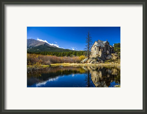 Chapel On The Rock Framed Print By Mark Bowmer