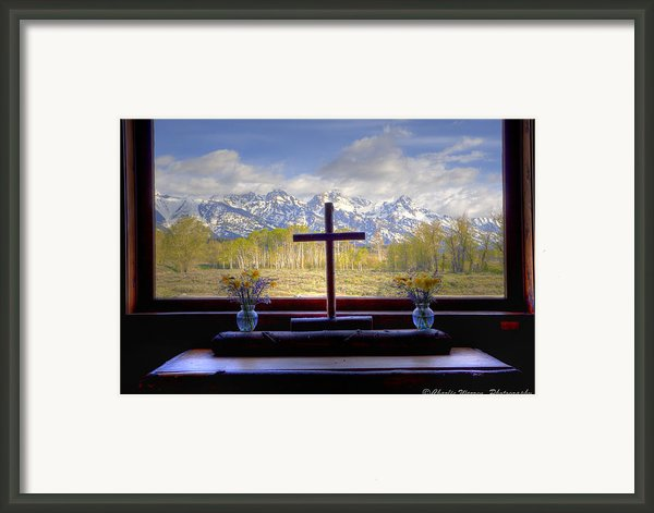 Chapel With A View Framed Print By Charles Warren