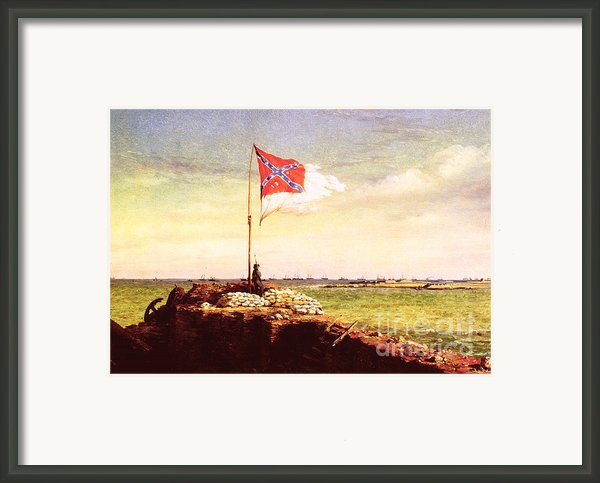 Chapman: Fort Sumter Flag Framed Print By Granger