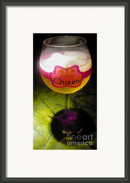 Chardonnay Queen Framed Print By Cheryl Young