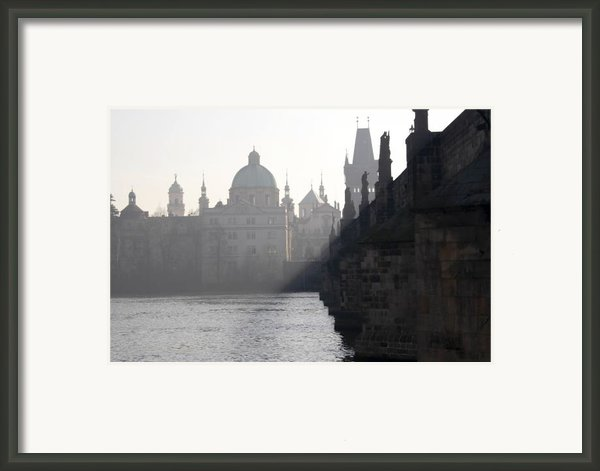 Charles Bridge At Early Morning Framed Print By Michal Boubin
