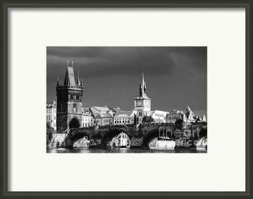 Charles Bridge Prague Czech Republic Framed Print By Matthias Hauser
