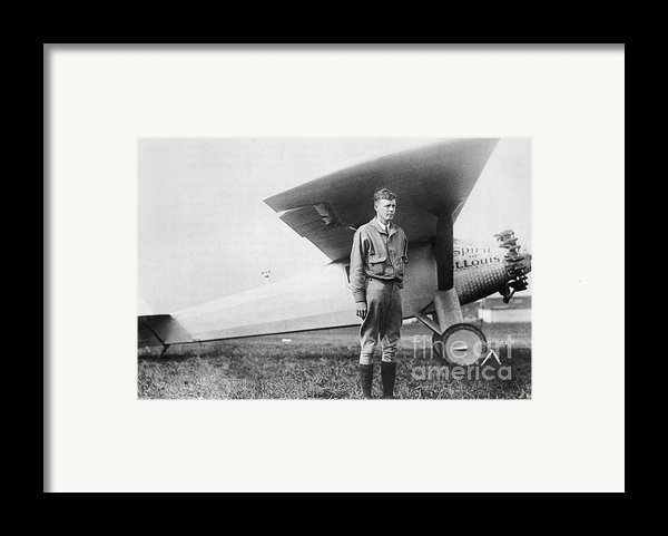 Charles Lindbergh American Aviator Framed Print By Photo Researchers