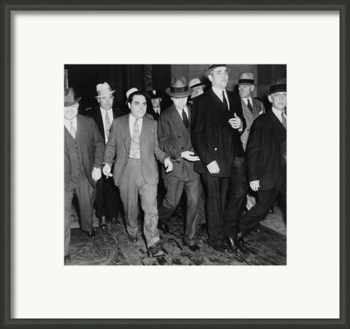 Charles Lucky Luciano In Center Framed Print By Everett