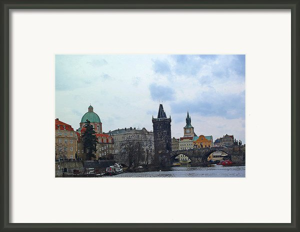 Charles Street Bridge And Old Town Prague Framed Print By Paul Pobiak