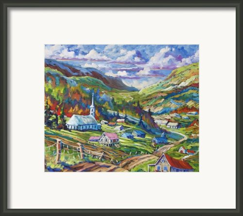 Charlevoix Inspiration Framed Print By Richard T Pranke