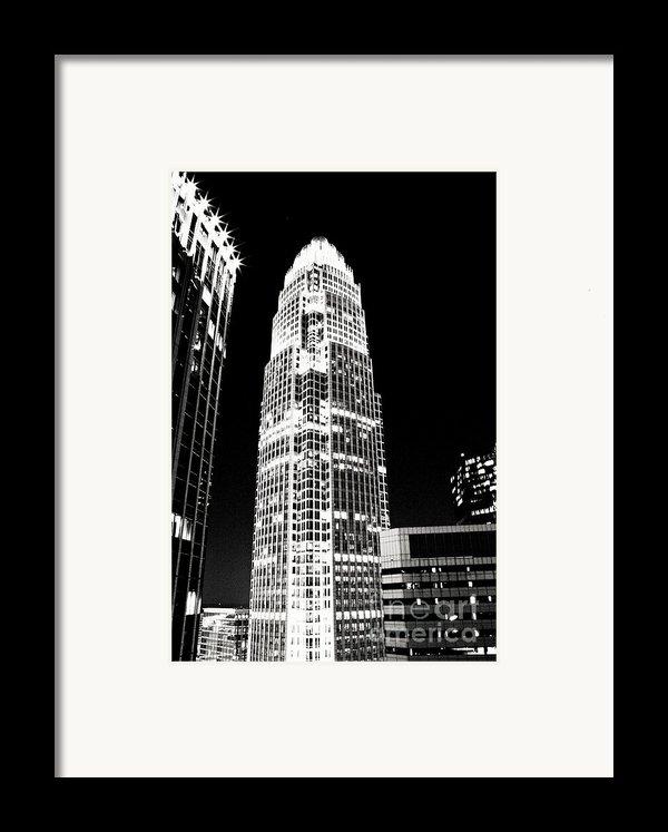Charlotte North Carolina Bank Of America Building Framed Print By Kim Fearheiley