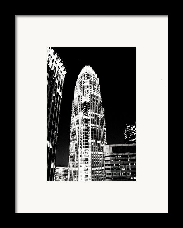 Charlotte North Carolina Bank Of America Building Framed Print By Kim Fearheiley