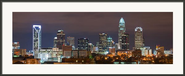 Charlotte Skyline 2012 Framed Print By Brian Young