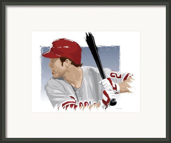 Chase Utley Framed Print By Scott Weigner