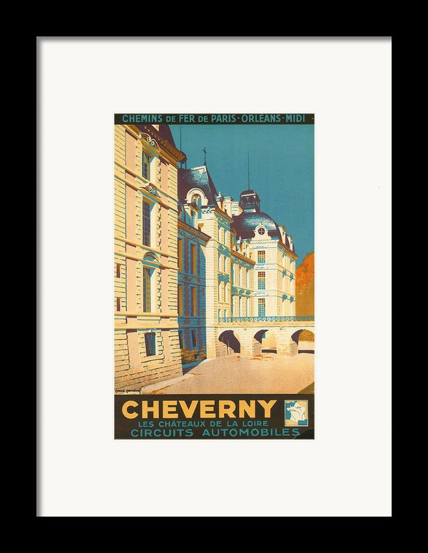 Chateau De Cheverny Framed Print By Nomad Art And  Design