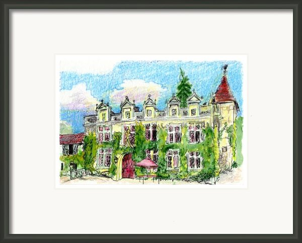 Chateau De Maumont Framed Print By Tilly Strauss