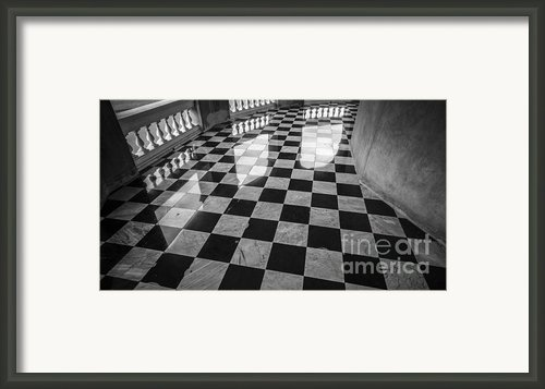 Checkered Marble Floor Pattern Framed Print By Setsiri Silapasuwanchai