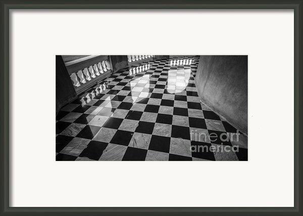 Checkered Marble Floor Pattern Framed Print By Setsiri Silapasuwanchai