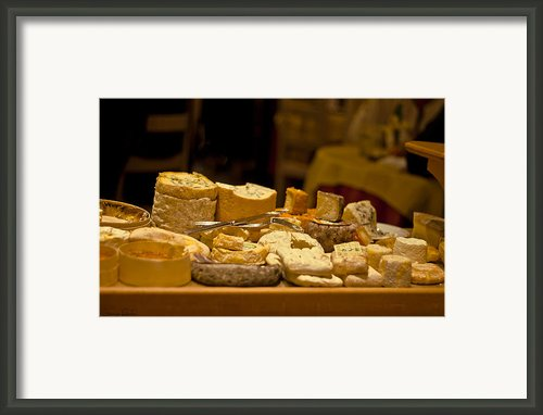 Cheese Selection Framed Print By Georgia Fowler