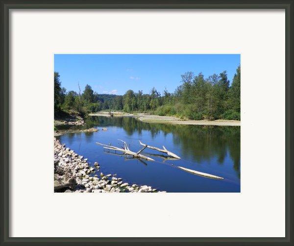 Chehalis River Washington Framed Print By Laurie Kidd