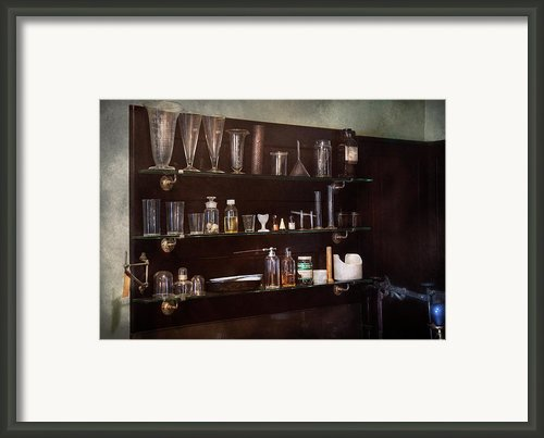 Chemist - The Scientist  Framed Print By Mike Savad