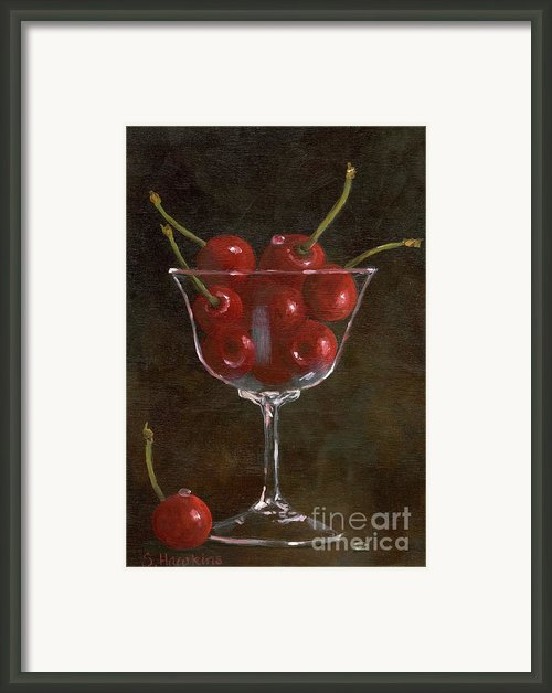 Cherries Jubilee Framed Print By Sheryl Heatherly Hawkins