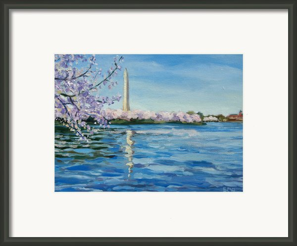 Cherry Blossoms Framed Print By Edward Williams