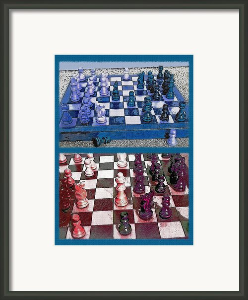 Chess Board - Game In Progress Diptych Framed Print By Steve Ohlsen