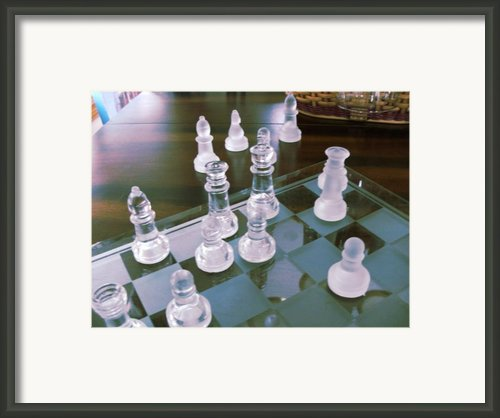 Chess Is Not For Sissies Framed Print By Anne-elizabeth Whiteway