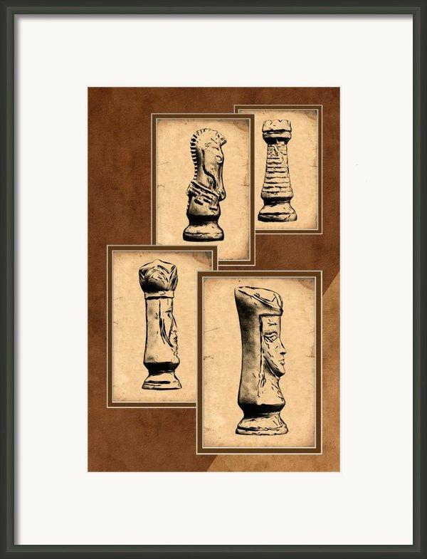 Chess Pieces Framed Print By Tom Mc Nemar